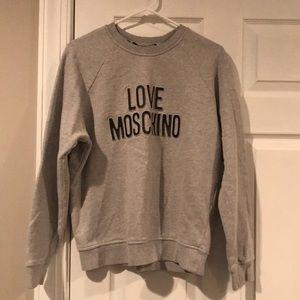 love Moschino grey crew neck sweater